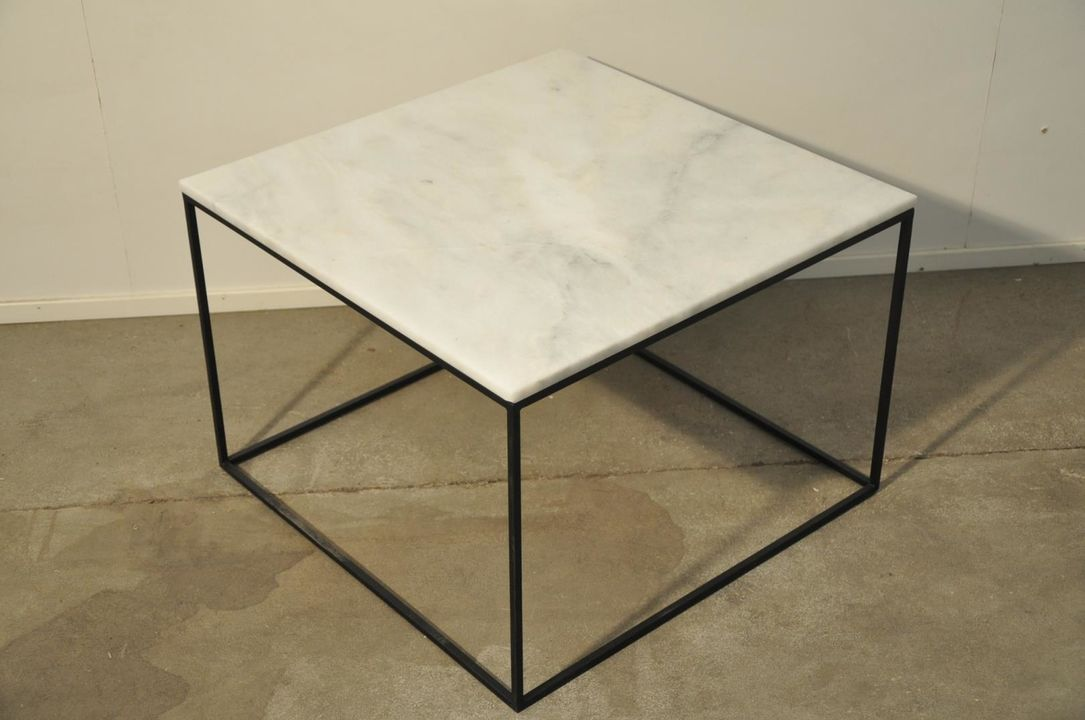 Picture of: Sofabord Marmor Square 58702540 Metalstel C Auktionshuset Dab A S