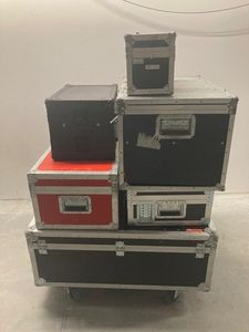 6 stk. assorterede flightcases
