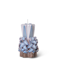 2 stk. Ferm Living, Hand-Curved Candle, Dusty Purple